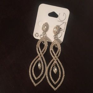 ICING by Claire's faux diamond rhinestone earrings